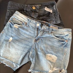 Aeropostale & American Eagle lot of 2 jeans shorts